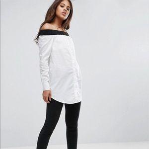 ASOS Off-Shoulder Button Shirt